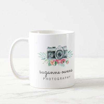 Vintage Watercolor Camera Mug