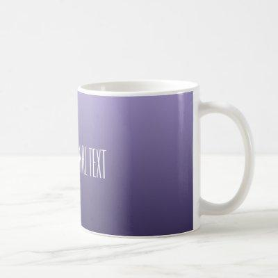 Violet Purple Gradient custom text mugs