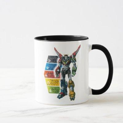 Voltron | Voltron And Pilots Graphic Mug