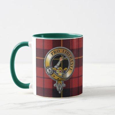 Wallace Tartan & Badge Mug