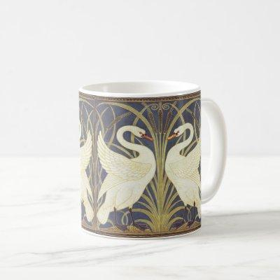 Walter Crane Swan, Rush And Iris Art Nouveau Coffee Mug