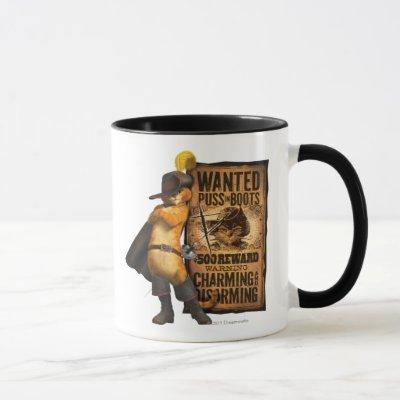 Wanted Puss in Boots (char) Mug