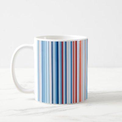 Warming Stripes 1901-2020 -- United States Coffee Mug