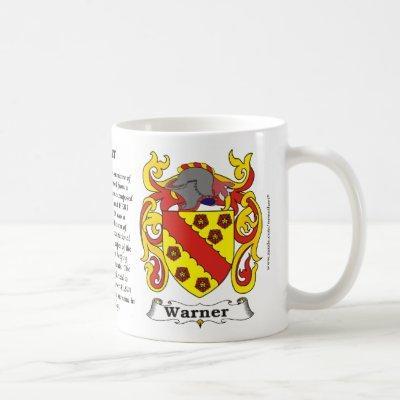 Warner Family Coat of Arms Mug