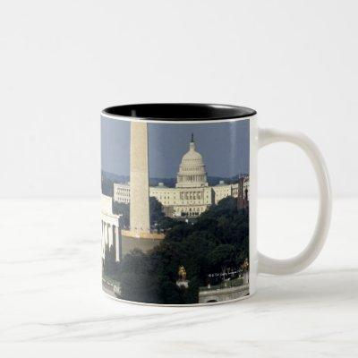 Washington DC Skyline with US Capitol Building 2 Two-Tone Coffee Mug