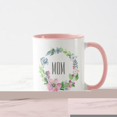 Watercolor Floral & Butterfly | Mother's Day Mug