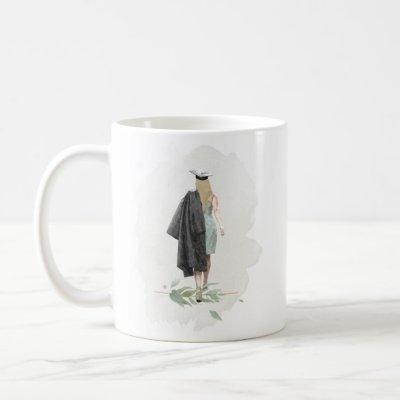 Watercolor Foliage Graduation Inspirational Quote Coffee Mug