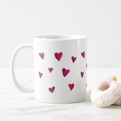 Watercolor Heart Melody Coffee Mug