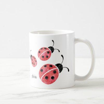 Watercolor Ladybug Mug