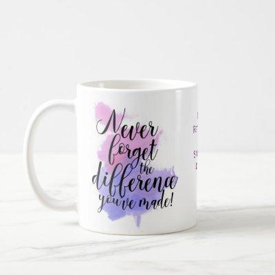 Watercolor Never Forget The Difference Retirement Coffee Mug