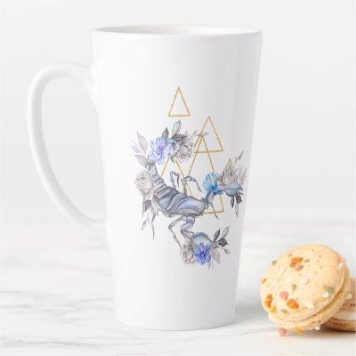Watercolor Scorpio Astrology Zodiac | Monogram Latte Mug