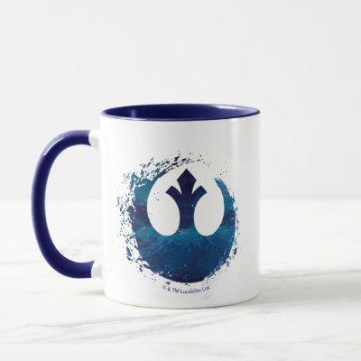 Watercolor Splash Rebel Logo Mug