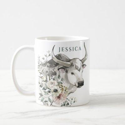 Watercolor Year of the Ox | Chinese New Year Coffee Mug