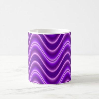 wave purple coffee mug