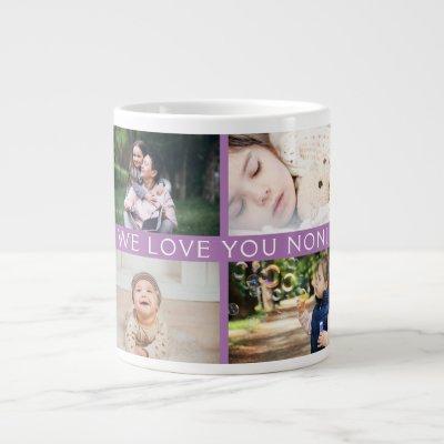 We Love You Grandma Personalized Photo Collage Giant Coffee Mug