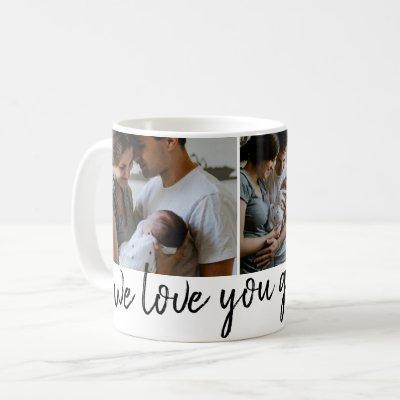 we love you grandpa modern photo Father's Day  Coffee Mug