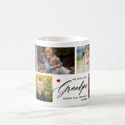 We Love You Grandpa Photo Collage Coffee Mug