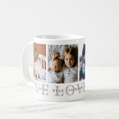 We Love You Personalized Photo Mug