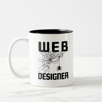Web Designer Design Website Developer Spider Two-Tone Coffee Mug