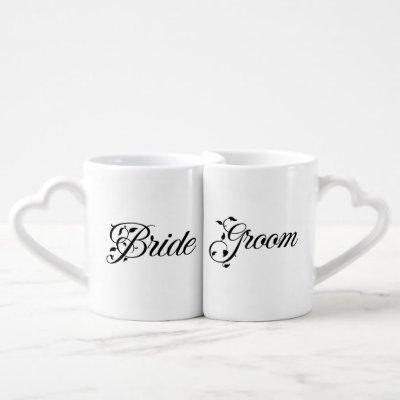 Wedding Party Bride & Groom Mug Set