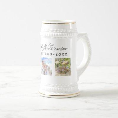 Wedding Photo Anniversary Gift - Personalized Beer Stein