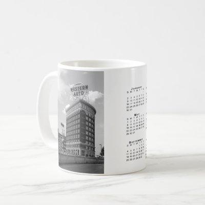 Western Auto Building 2022 Calendar Coffee Mug