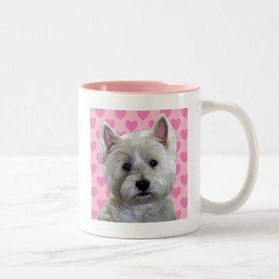 WESTIE IN MY HEART Two-Tone COFFEE MUG