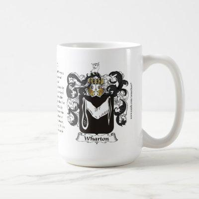 Wharton, the Origin, the Meaning and the Crest Coffee Mug