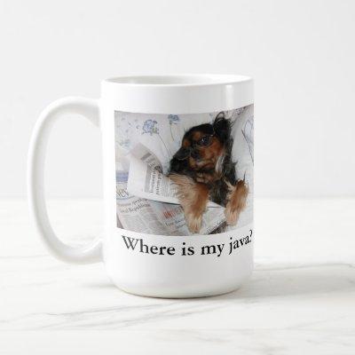 Where is my java? Cavalier King Charles Spaniel Coffee Mug
