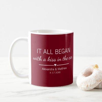 Where It All Began Romantic Custom Couples Coffee Mug