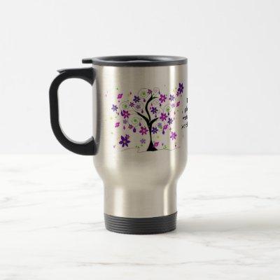 Whimsical Floral Tree with Teacher Saying Travel Mug