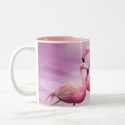 Whimsical Pink Flamingos Mug