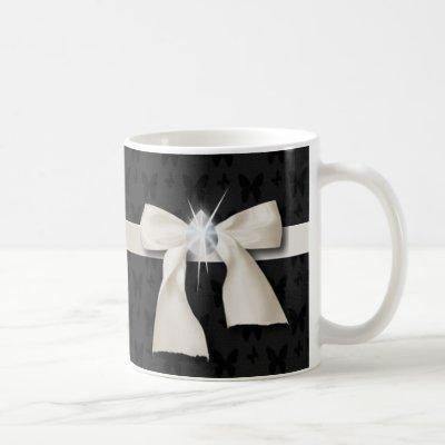 white bow diamond chandelier sweet sixteen coffee mug