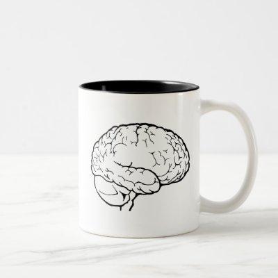 White Brain Mug
