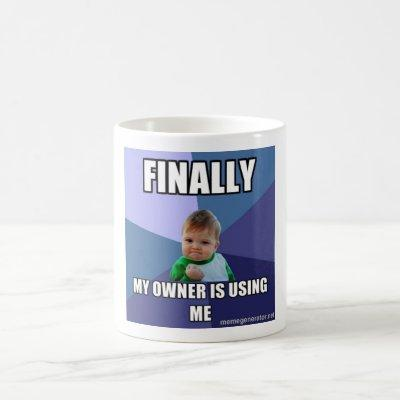 white cup with success kid a meme