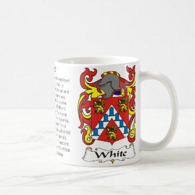 White Family Crest Mug