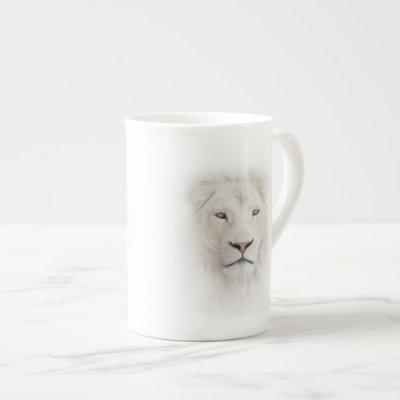 White Lion Head Tea Cup