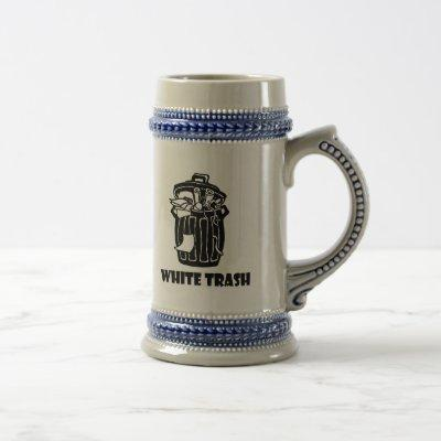 White Trash Garbage Can Beer Stein