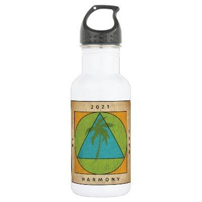 White with color logo water bottle
