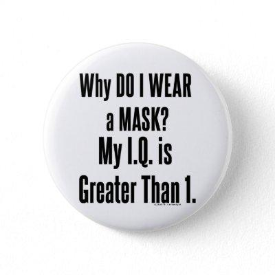 Why Do I Wear a Mask? Button
