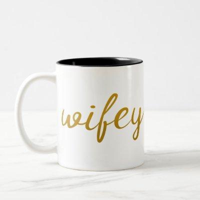 Wifey Two-Tone Coffee Mug