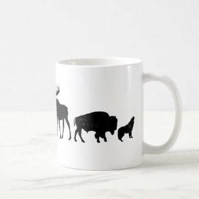 Wild Animals of Yellowstone Coffee Mug