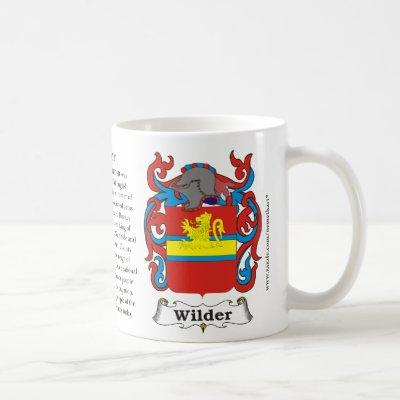 Wilder, the origin, the meaning and the crest coffee mug