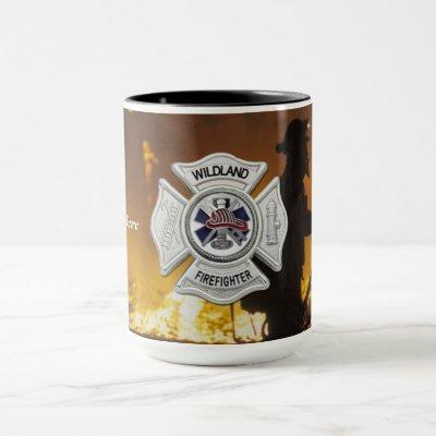 Wildland Forest Fire Firefighter Coffee Mug