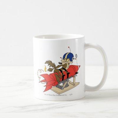 Wile E. Coyote Launching Red Rocket Coffee Mug