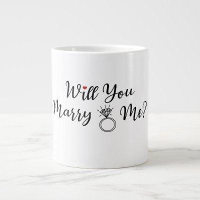 Will You Marry Me Coffee Cup, Coffee Mug