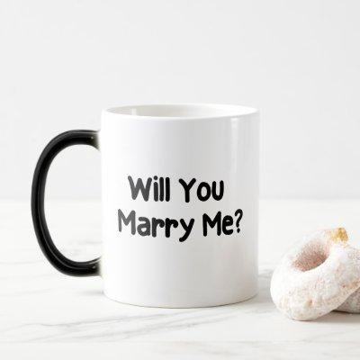 Will You Marry Me Proposal Magic Mug