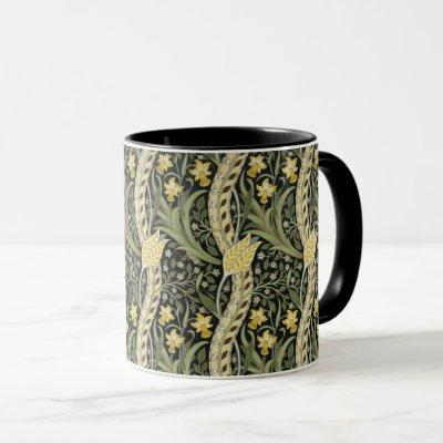 William Morris Daffodil Floral Textile Pattern Mug