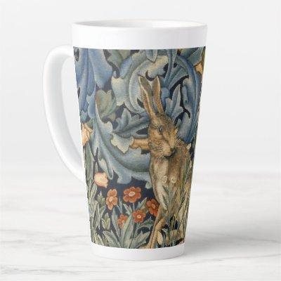 William Morris Forest Rabbit Floral Art Nouveau Latte Mug