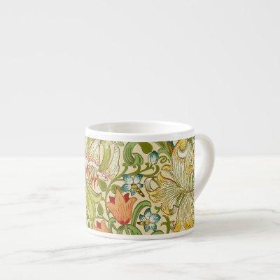 William Morris Golden Lily Vintage Pre-Raphaelite Espresso Cup